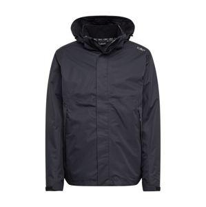 CMP Outdoorová bunda  čierna melírovaná / čierna