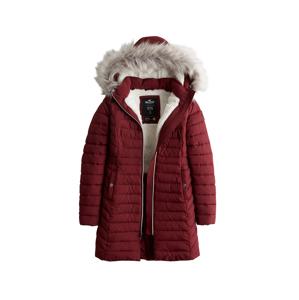 HOLLISTER Zimný kabát  červená