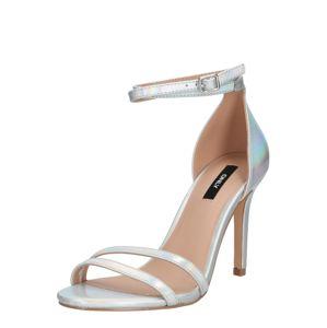 ONLY Remienkové sandále 'AILA '  strieborná