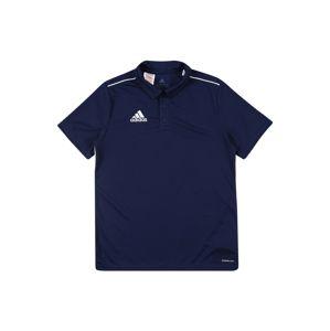 ADIDAS PERFORMANCE Funkčné tričko 'Core 18'  tmavomodrá / biela