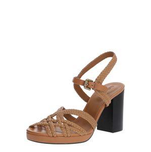 See by Chloé Remienkové sandále  hnedá / béžová