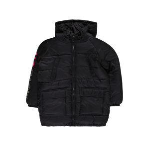 UNITED COLORS OF BENETTON Prechodná bunda  čierna / biela / červená