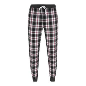 BOSS Nohavice  tmavočervená / čierna / biela