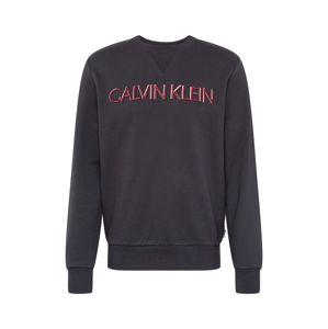 Calvin Klein Mikina  červená / čierna
