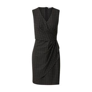 iBlues Puzdrové šaty 'Tolosa'  čierna / tmavohnedá