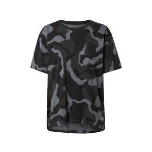 UNDER ARMOUR Funkčné tričko 'Denali'  čierna / sivá