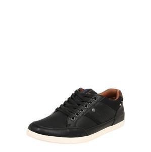 TOM TAILOR Športové šnurovacie topánky  čierna