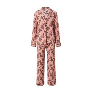 LingaDore Pyžamo  staroružová / hnedá