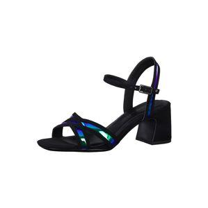 TAMARIS Remienkové sandále  čierna / modrá