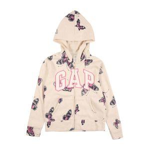 GAP Tepláková bunda  béžová / fialová