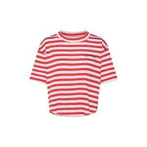ELEMENT Tričko 'Loveless'  červená / biela
