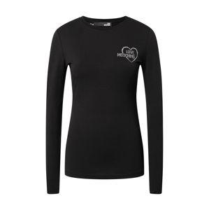 Love Moschino Tričko  čierna / strieborná