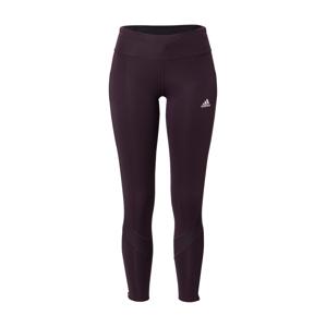 ADIDAS PERFORMANCE Športové nohavice  baklažánová