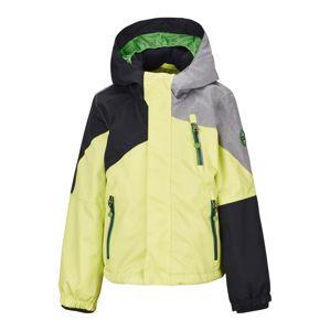 KILLTEC Outdoorová bunda 'Yariny'  čierna / sivá melírovaná / svetložltá