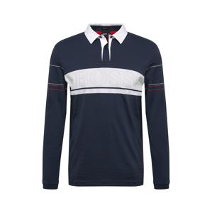 BOSS ATHLEISURE Tričko 'Plisy 1'  námornícka modrá / biela / červená