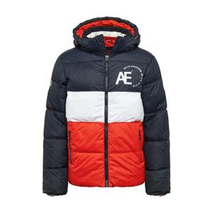 Hailys Men Zimná bunda 'Tim'  námornícka modrá / svetločervená / biela