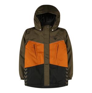 Hummel Prechodná bunda 'Conrad'  olivová / antracitová / oranžová