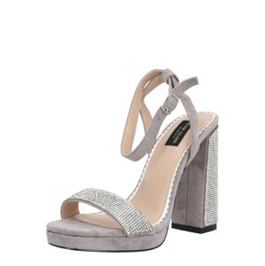 River Island Remienkové sandále  sivá / strieborná