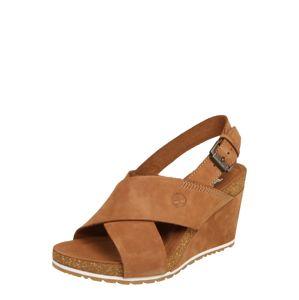 TIMBERLAND Remienkové sandále 'Capri Sunset X-Band Sandal'  koňaková