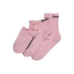 REEBOK Športové ponožky  ružová / čierna