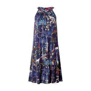 s.Oliver Letné šaty  námornícka modrá / modrosivá / trávovo zelená / svetlomodrá / béžová / grenadínová / tmavošedá