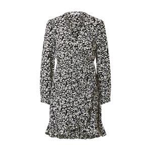 ABOUT YOU Košeľové šaty 'Elif Dress'  čierna / biela