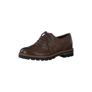 MARCO TOZZI Šnurovacie topánky  tmavohnedá