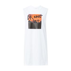 Calvin Klein Jeans Šaty  biela / oranžová / čierna