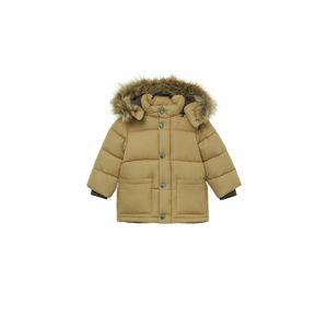 MANGO KIDS Zimná bunda 'LUCA'  pastelovo žltá