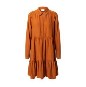 VILA Košeľové šaty  oranžovo červená