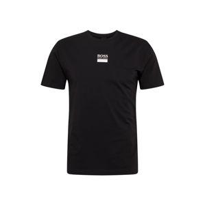 BOSS ATHLEISURE Tričko  čierna / biela