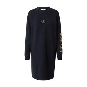 Calvin Klein Šaty  čierna / zlatá