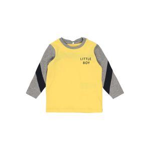 NAME IT Tričko  sivá / žltá