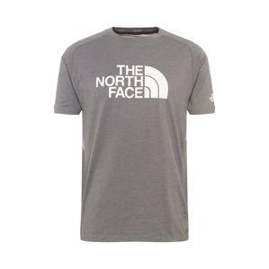 THE NORTH FACE Funkčné tričko 'WICKER'  biela / sivá melírovaná