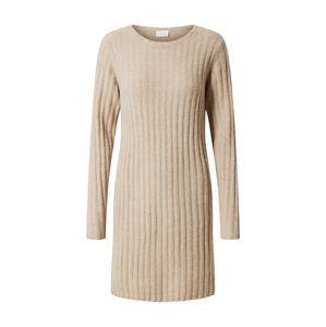 VILA Pletené šaty 'Nikki'  béžová