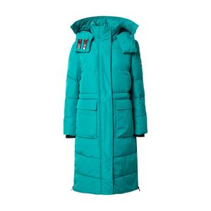 Tommy Jeans Zimný kabát  tyrkysová