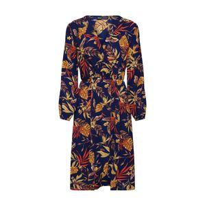Mela London Šaty 'LONGSLEEVE AUTUMN FLORAL DRESS'  námornícka modrá