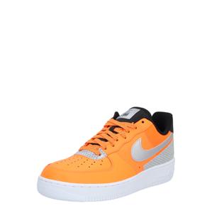 Nike Sportswear Nízke tenisky 'Air Force 1 '07 LV8'  čierna / oranžová / strieborná