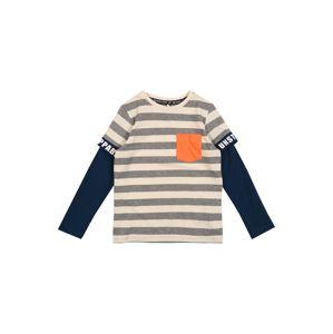 NAME IT Tričko 'Nat'  sivá / béžová / modrá / oranžová