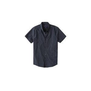 Abercrombie & Fitch Košeľa  námornícka modrá / biela