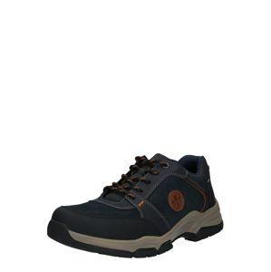 RIEKER Športové šnurovacie topánky  námornícka modrá / hnedá / čierna