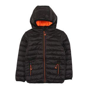 STACCATO Prechodná bunda  neónovo oranžová / čierna