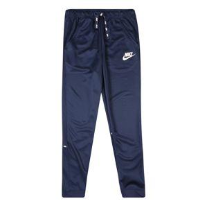 Nike Sportswear Nohavice  biela / námornícka modrá