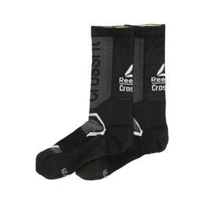 REEBOK Športové ponožky  čierna / biela