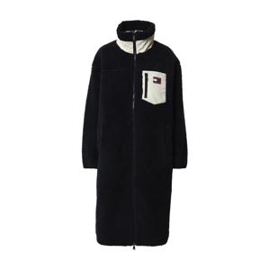 Tommy Jeans Prechodný kabát  čierna / biela