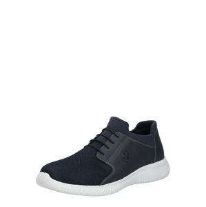RIEKER Športové šnurovacie topánky  tmavomodrá / biela