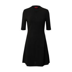 HUGO Pletené šaty 'Shatha'  čierna