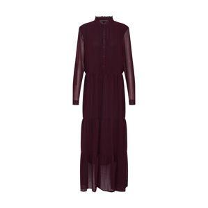 ONLY Košeľové šaty 'Daphine'  vínovo červená / čierna