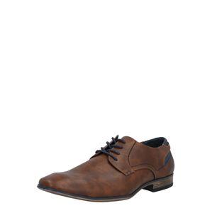 TOM TAILOR Športové šnurovacie topánky  hrdzavohnedá / tmavomodrá