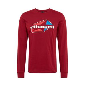 DIESEL Tričko  červená / biela / modrá